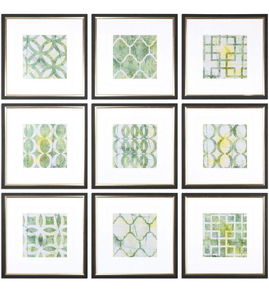 Uttermost - 33617 - Metric Links Geometric Art (Set of 9)