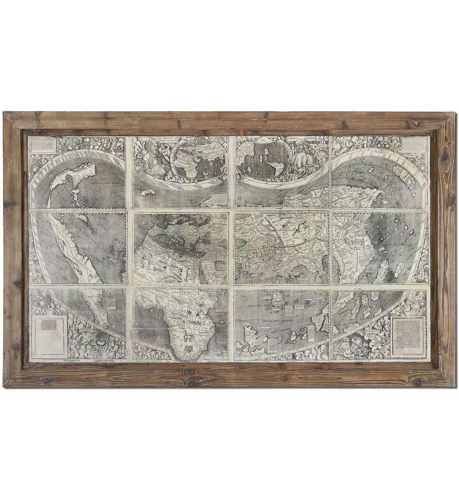 Uttermost - 34025 - Treasure Map Framed Art