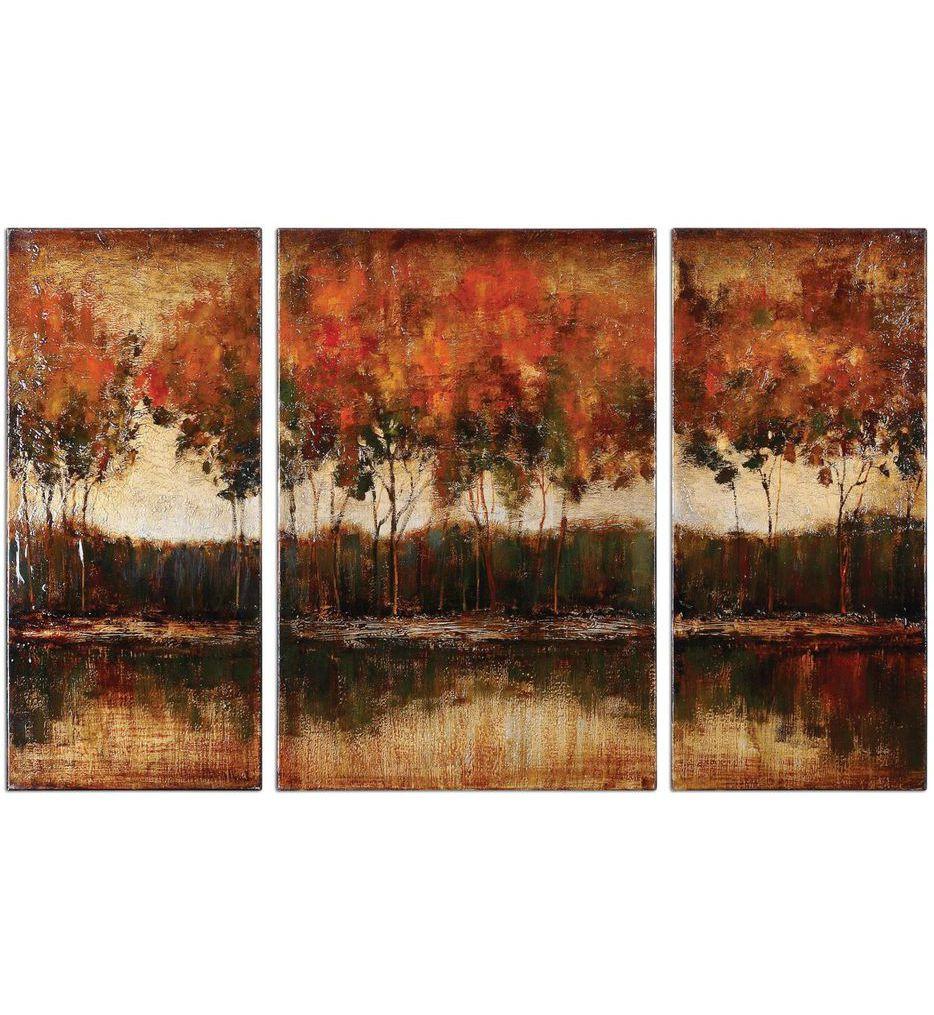 Uttermost - 34207 - Trilakes Canvas Art (Set of 3)