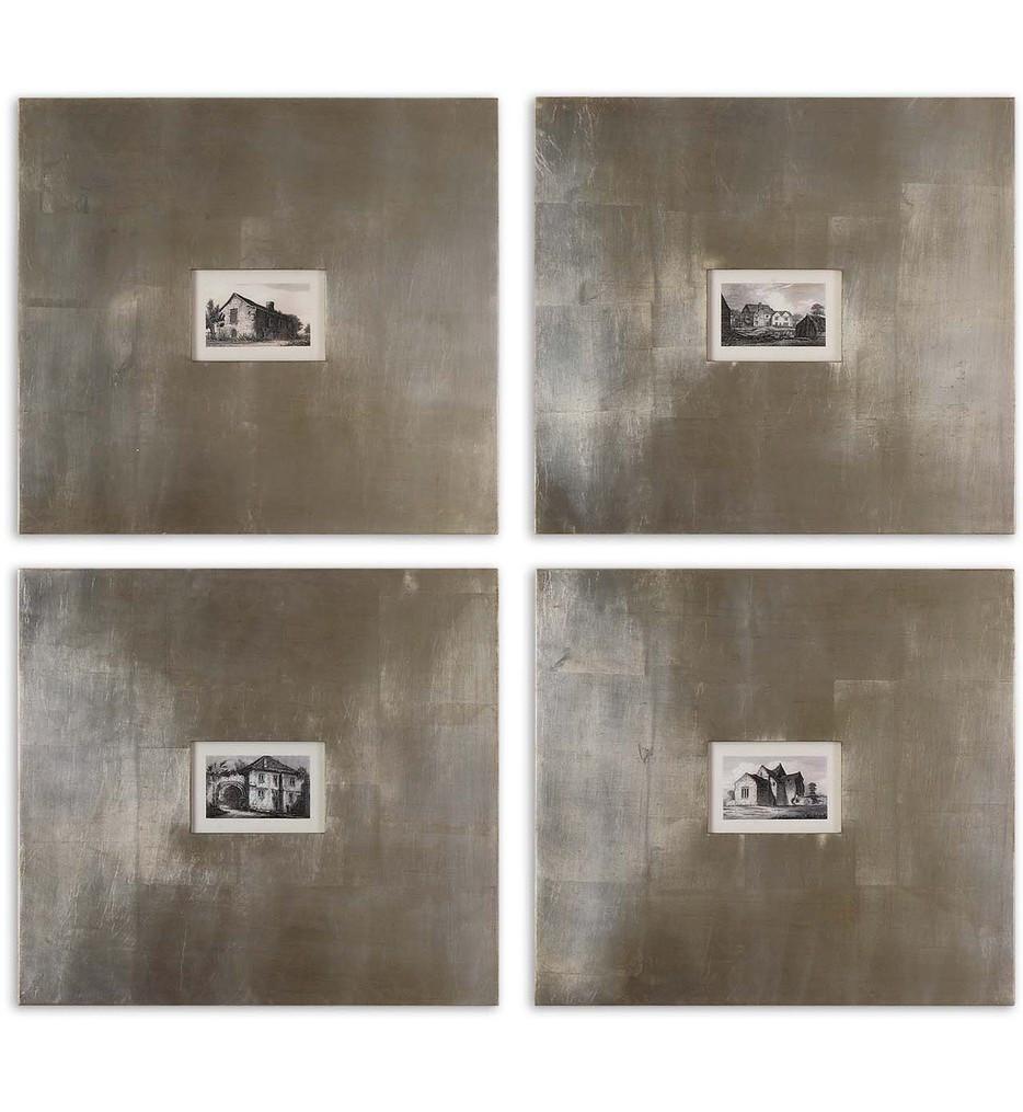 Uttermost - 41295 - Historical Buildings Framed Art (Set of 4)