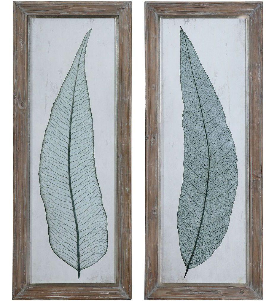 Uttermost - 41514 - Tall Leaves Framed Art (Set of 2)