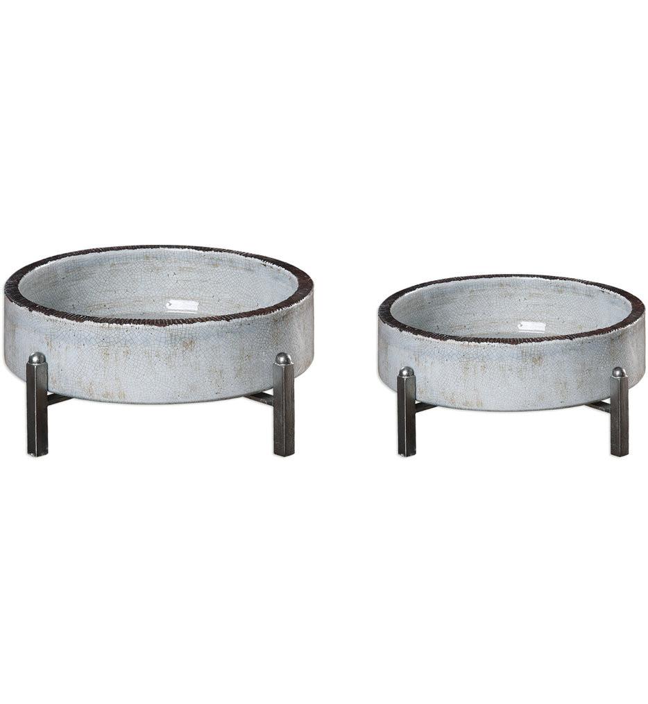 Uttermost - 18731 - Uttermost Essie Pale Gray Bowls (Set of 2)