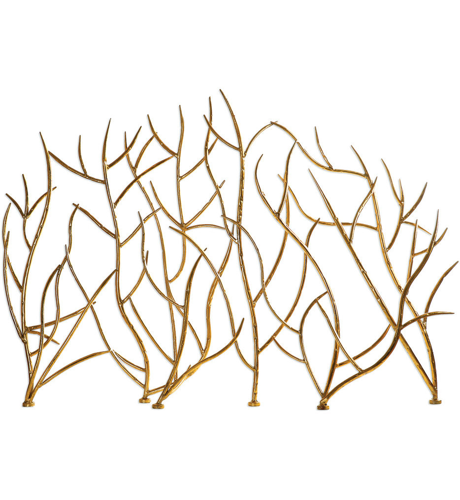 Uttermost - 18796 - Uttermost Gold Branches Decorative Fireplace Screen