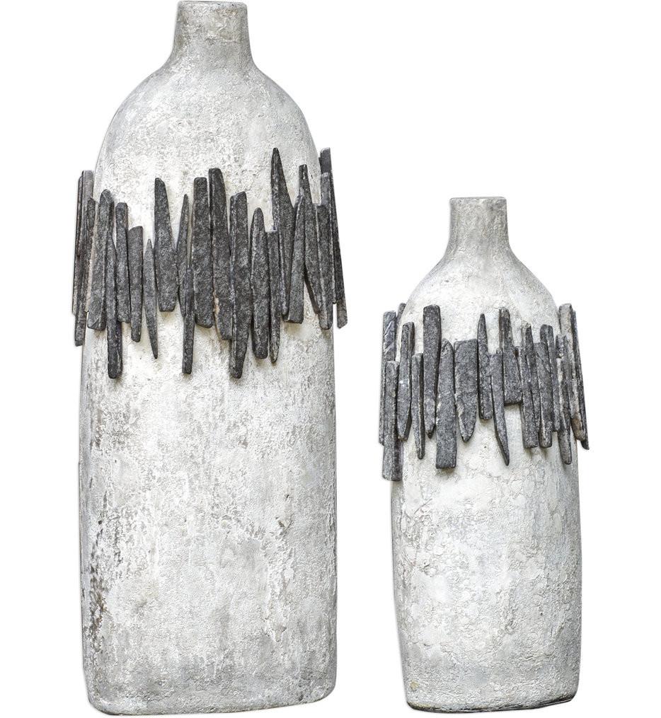 Uttermost - 18857 - Uttermost Rutva Aged Ivory Vases (Set of 2)
