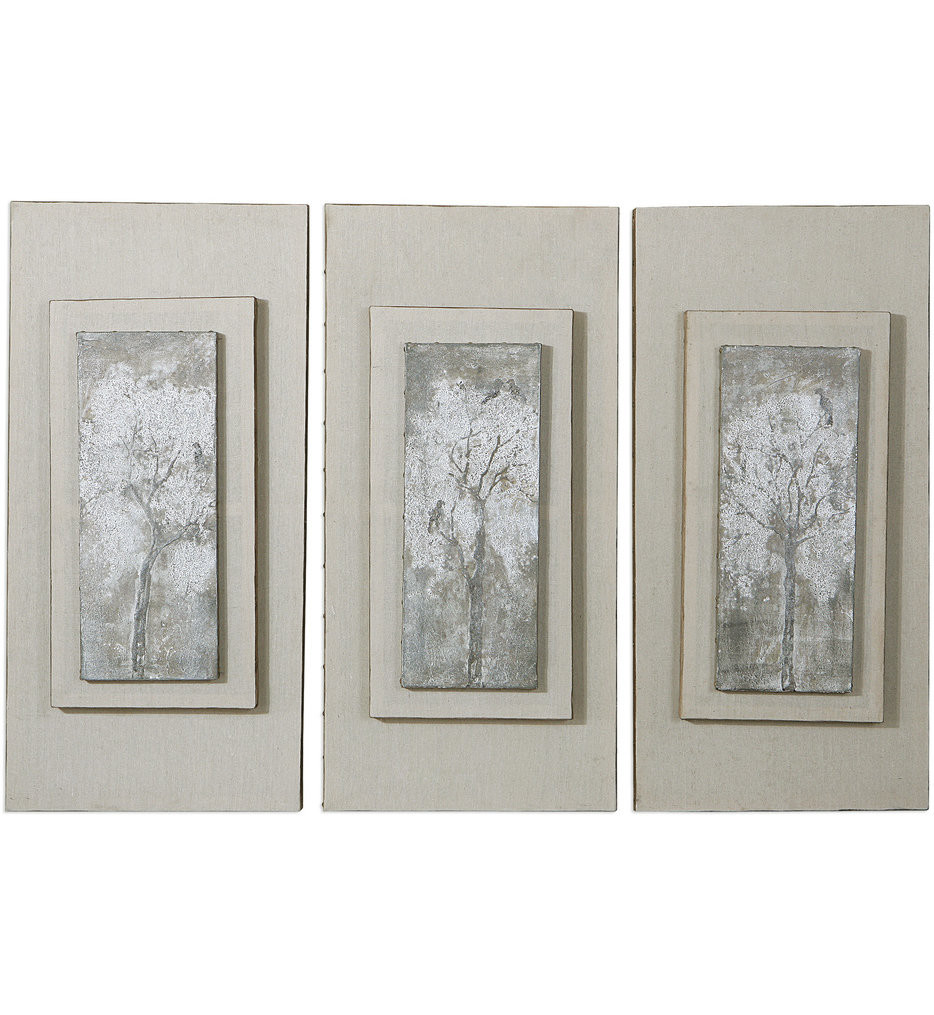 Uttermost - 41426 - Uttermost Triptych Trees Hand Painted Art (Set of 3)