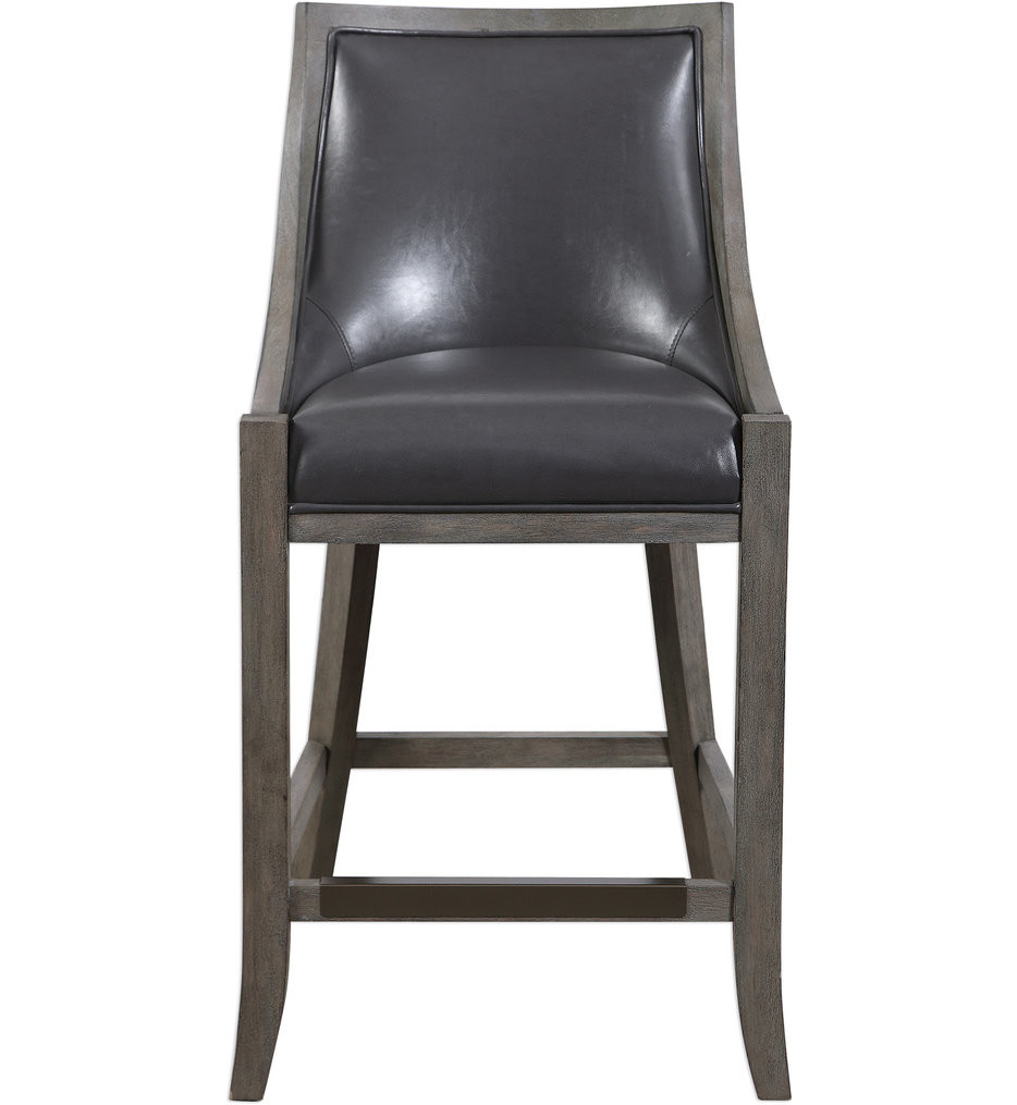 Uttermost - 23465 - Uttermost Elowen Leather Counter Stool