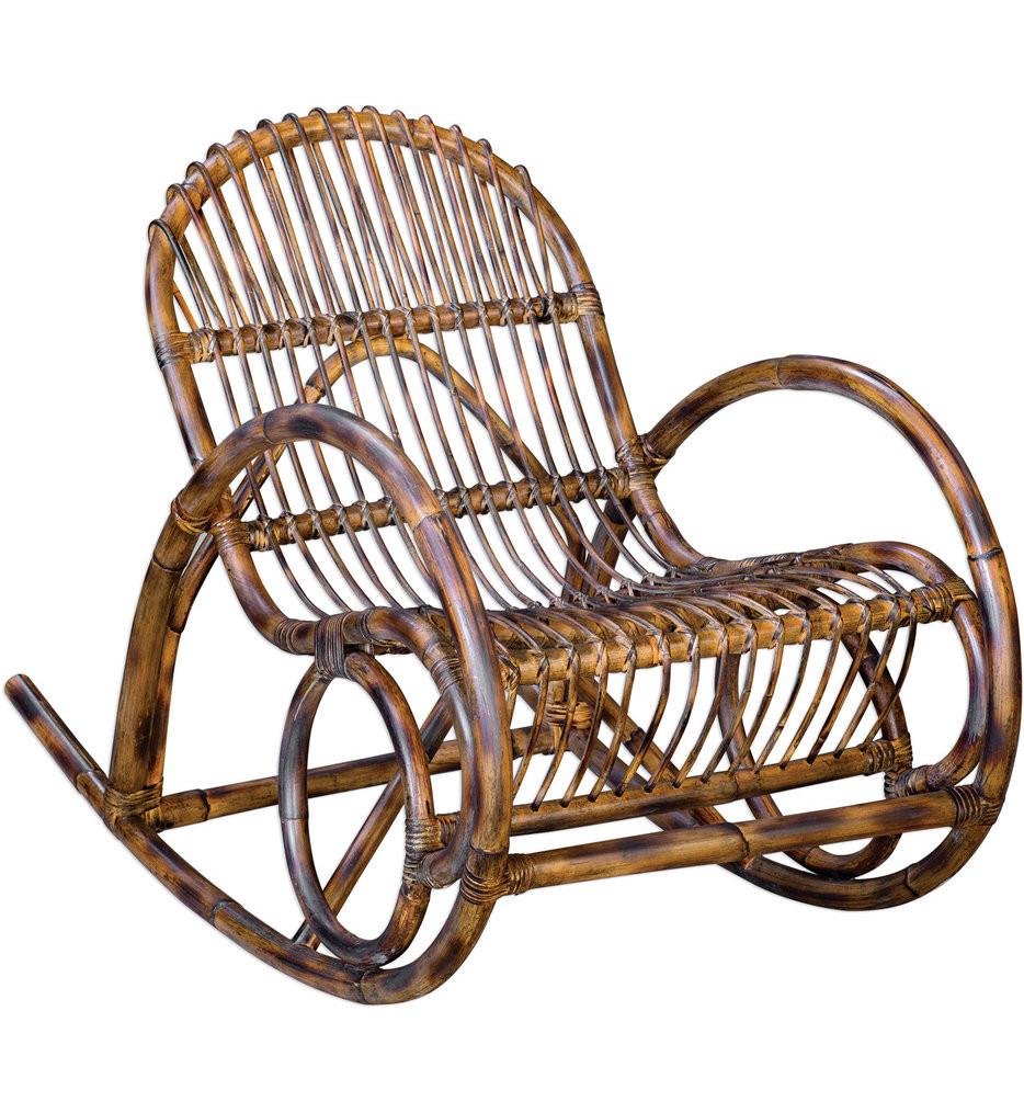 Uttermost - 23482 - Uttermost Arlo Rattan Rocking Chair