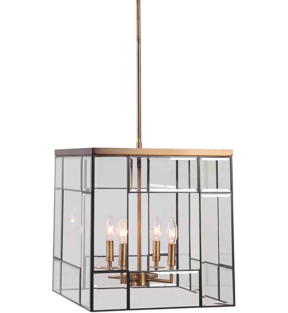 Uttermost - 22144 - Uttermost Romilly 4 Light Antique Brass Pendant