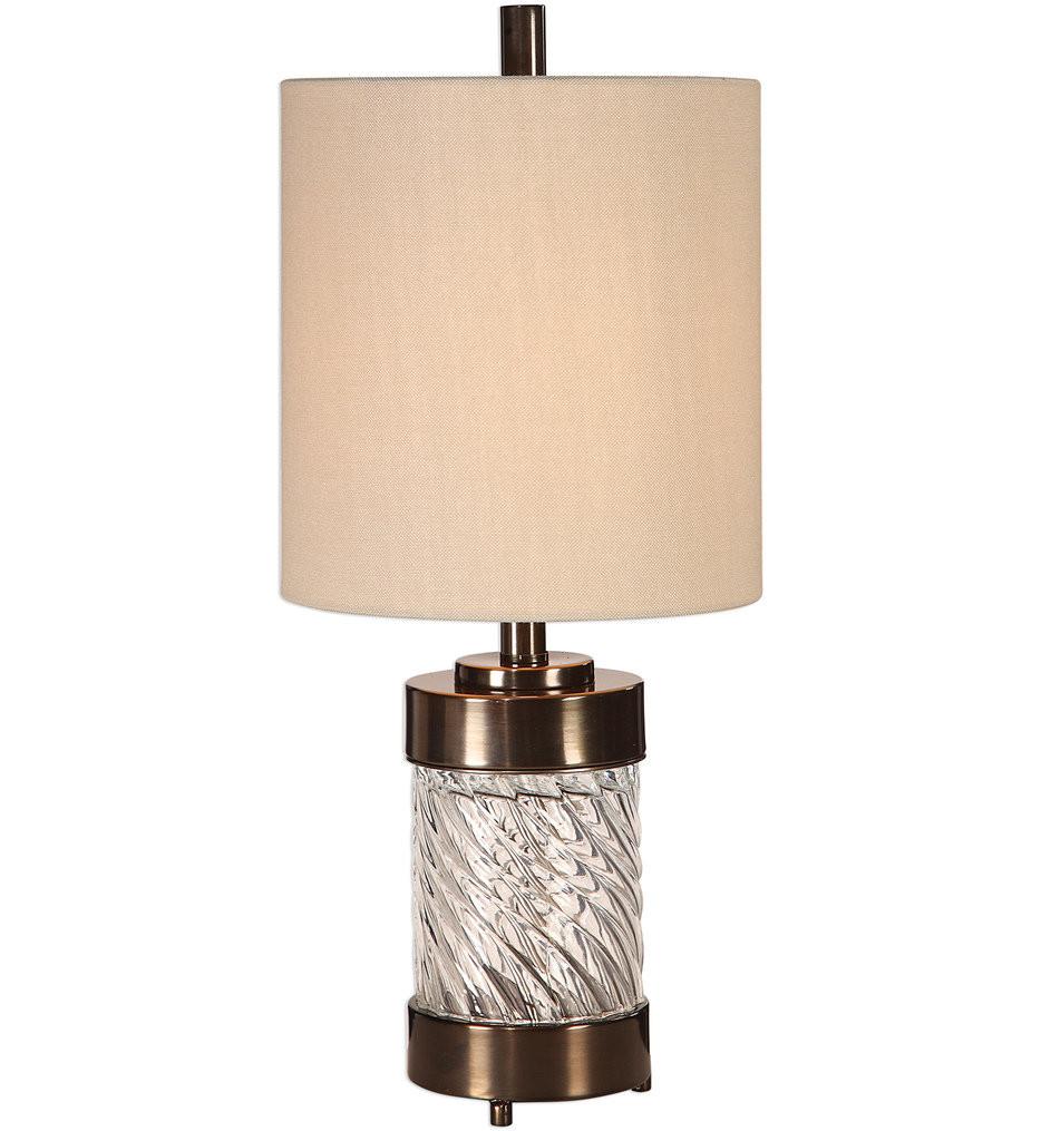 Uttermost - 29671-1 - Uttermost Thorton Spiral Glass Buffet Lamp
