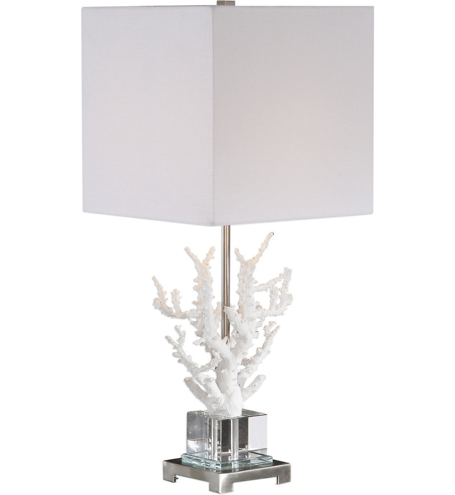 Uttermost - 29679-1 - Uttermost Corallo White Coral Table Lamp
