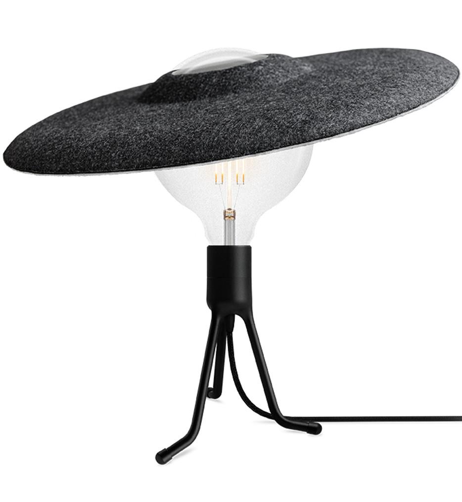 Umage - 2107_4056_4103 - Shade Matte Black Table Lamp with Black Felt Shade