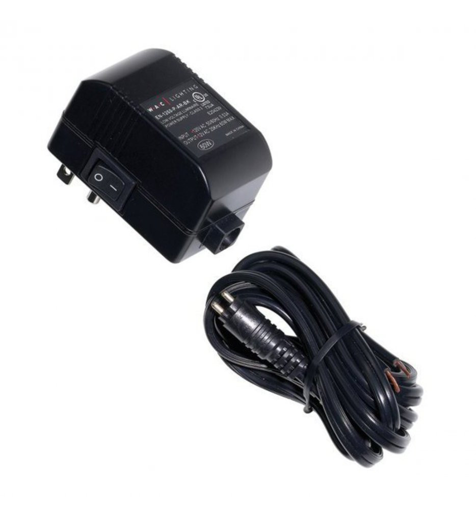WAC Lighting - EN-2460-P-AR - Plug-in Electronic Transformer with Open Splice 120V Input 24V Output 60 Watt