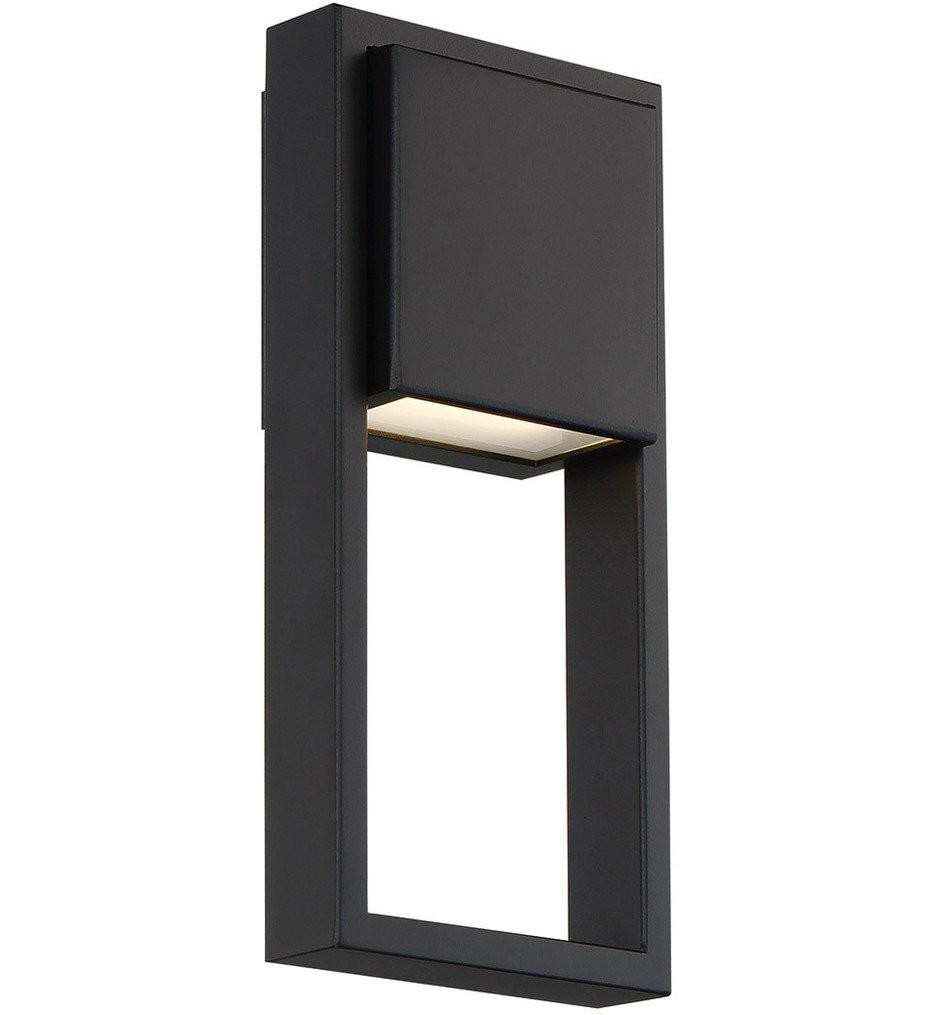 dweLED - WS-W15912-BK - Archetype Black 12 Inch Outdoor Wall Light