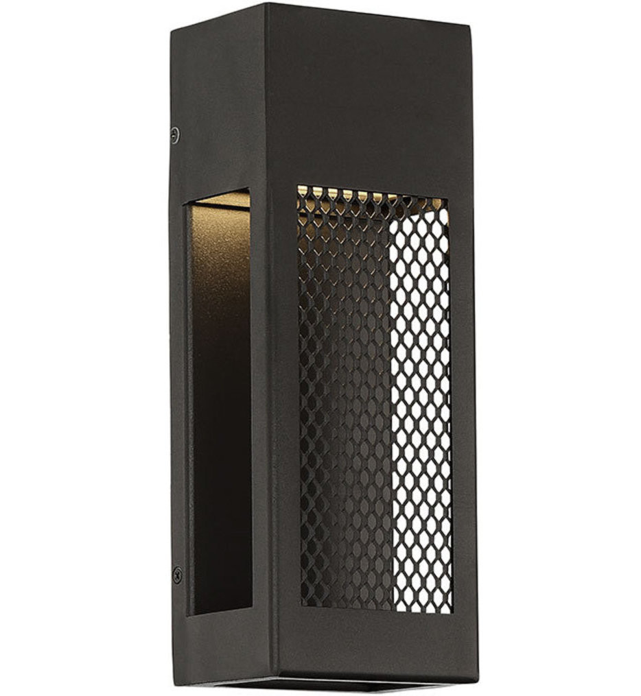 dweLED - WS-W39812-BK - Grate Black 12 Inch Outdoor Wall Light