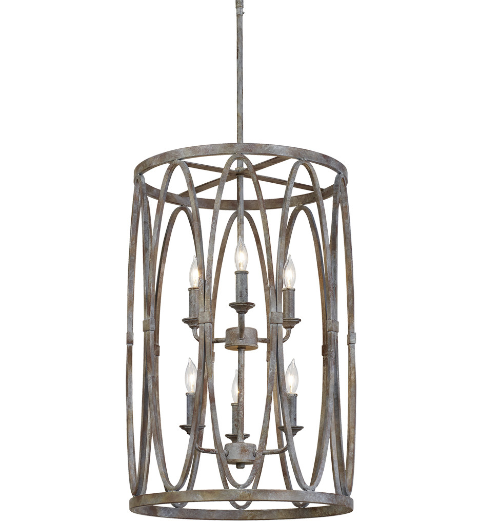 Feiss - F3223/6DA - Patrice Deep Abyss 6 Light Chandelier