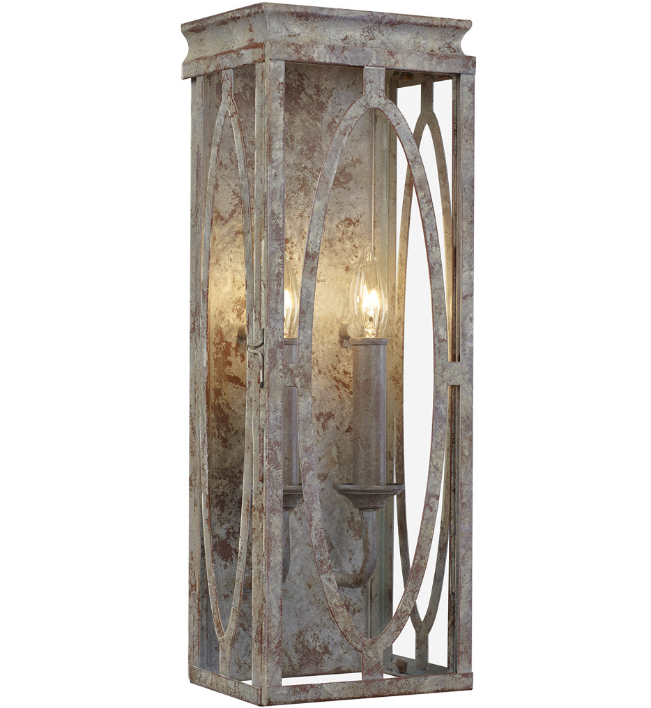 Feiss - WB1884DA - Patrice Deep Abyss 2 Light Wall Sconce