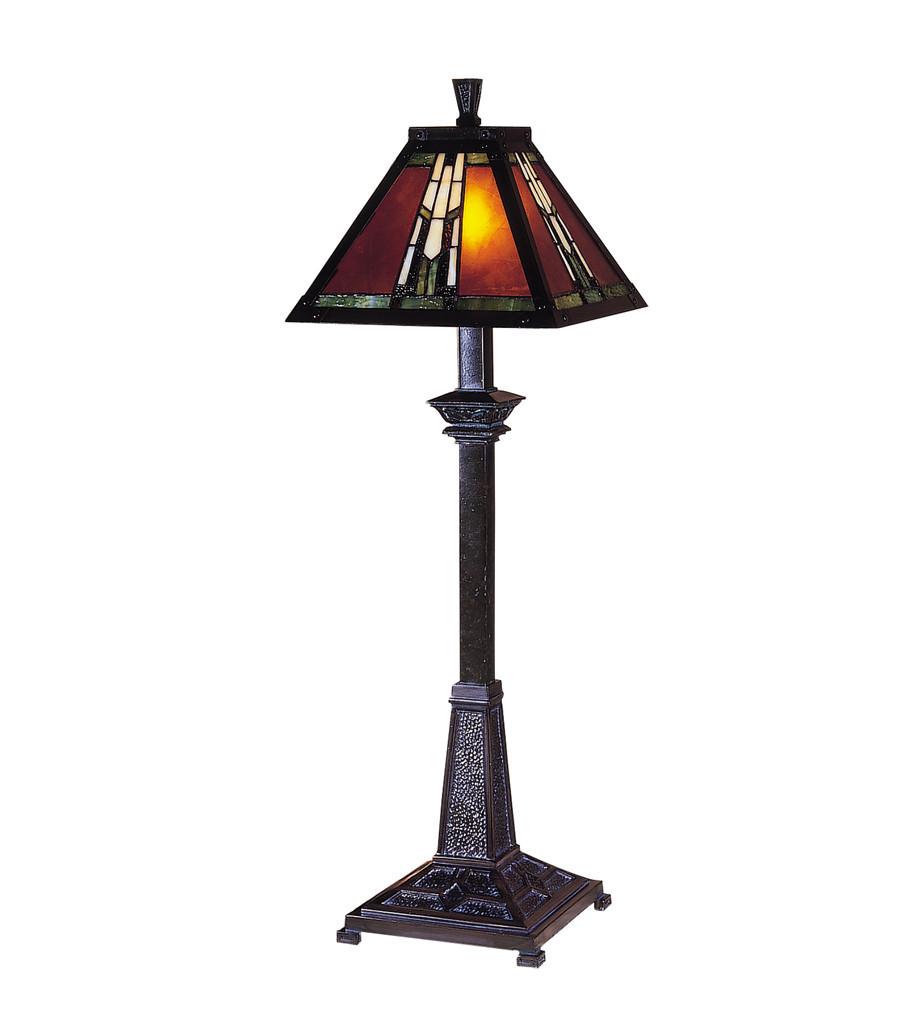 Dale Tiffany - TB100715 - Amber Monarch Buffet Lamp